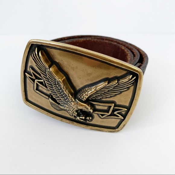 Levi's Accessories - Levi's 70s Inspired Eagle Buckle Leather Belt